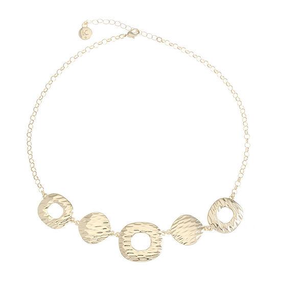 Liz Claiborne Womens Square Collar Necklace