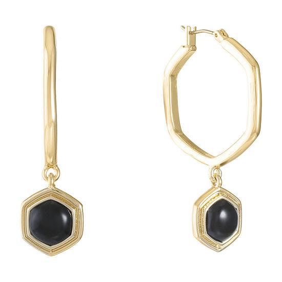 Monet Jewelry Black Hoop Earrings