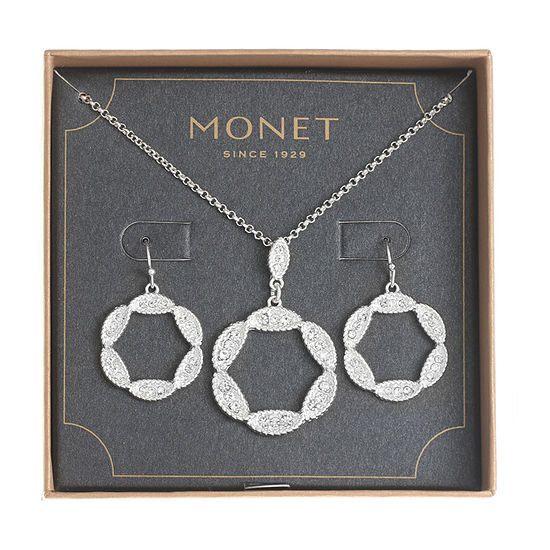 Monet Jewelry Silver Tone 2-pc. Jewelry Set