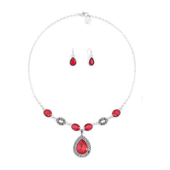 Liz Claiborne 2-pc. Red Pear Jewelry Set