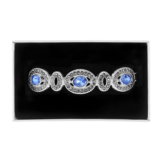 Liz Claiborne Blue Oval Stretch Bracelet