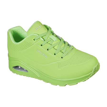 Vintage Sneakers, Retro Designs for Women Skechers Uno- Night Shades Womens Sneakers 7 Medium Green $65.00 AT vintagedancer.com