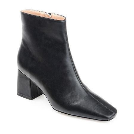 70s Shoes, Platforms, Boots, Heels | 1970s Shoes Journee Collection Womens Haylinn Booties Block Heel 7 Medium Black $67.99 AT vintagedancer.com