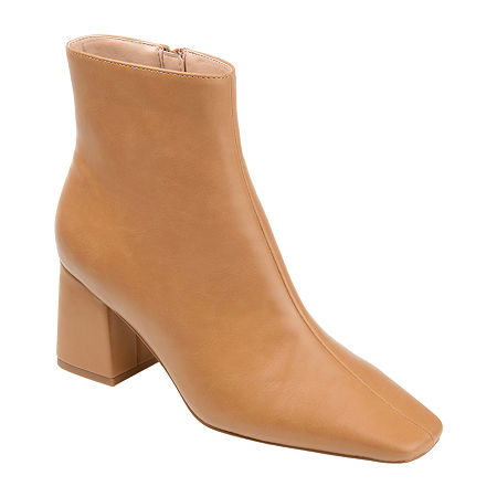 70s Shoes, Platforms, Boots, Heels | 1970s Shoes Journee Collection Womens Haylinn Booties Block Heel 6 Medium Brown $67.99 AT vintagedancer.com