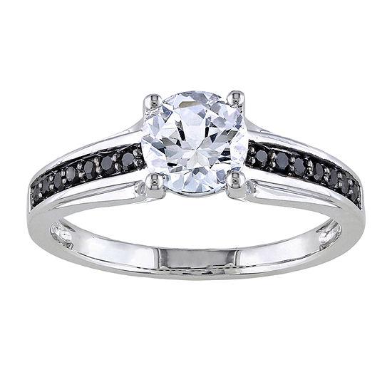 Midnight Black Diamond 1/6 CT. T.W. Color-Enhanced Engagement Ring