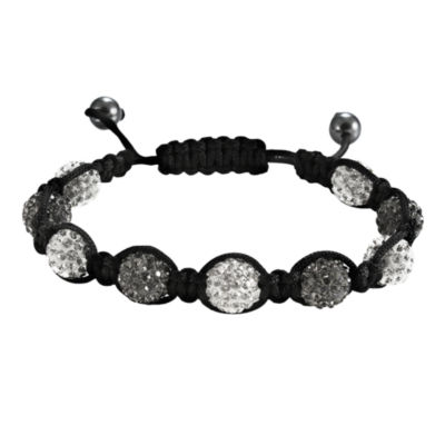 Men's Hematite & Black Crystal Bracelet