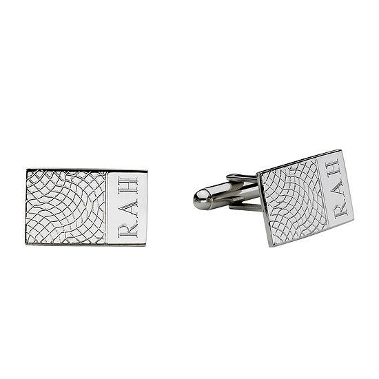 Personalized Snakeskin Pattern Cuff Links