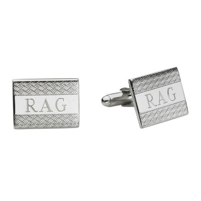 Personalized Wave Pattern Cuff Links