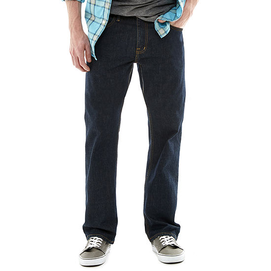 Arizona Mens Mid Rise Original Fit Straight Leg Jean