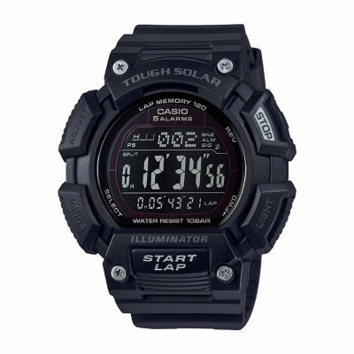 Casio Table Tough Solar Runner Mens Black Strap Watch-Stls1101b2pb