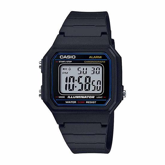 Casio Table Mens Black Strap Watch-W217h-1avpb