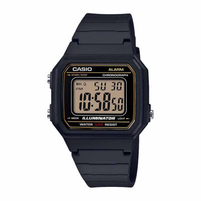 Casio Table Mens Black Strap Watch-W217h-9avpb