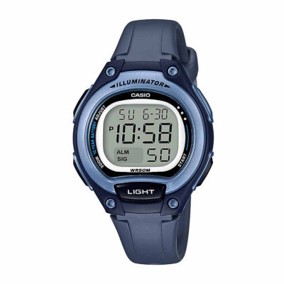 Casio Table Illuminator Womens Blue Strap Watch-Lw203-2avpb