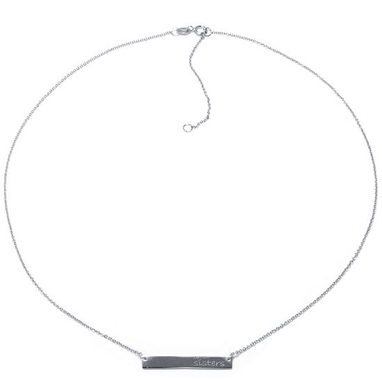Silver Treasures Sister Sterling Silver 16 Inch Cable Pendant Necklace