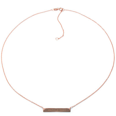 Silver Treasures 14K Rose Gold Over Silver Mama Bear 16 Inch Cable Pendant Necklace
