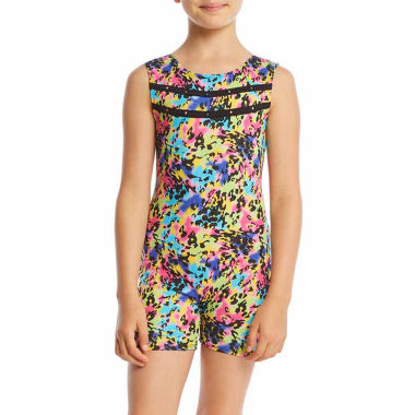 Jacques Moret Animal Print Gymnastics Biketard - Girl's Sizes 6-14