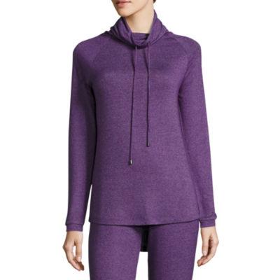 Long Sleeve Sweaterknit Sleep Top w/ Hood