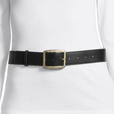 Libby Edelman Brass Buckle Belt