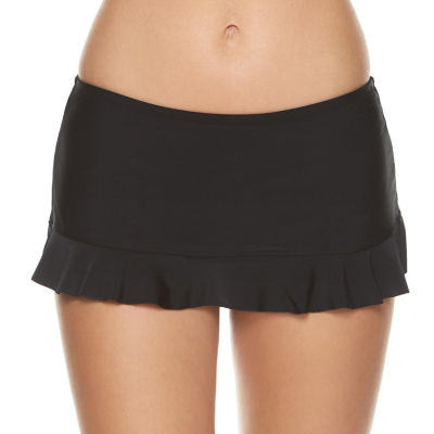 Arizona Solid Swim Skirt-Juniors