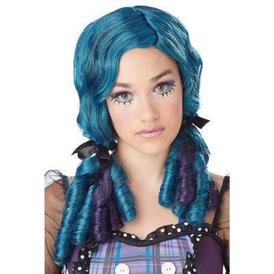 Blue Doll Curls Adult Wig