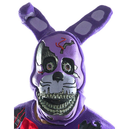 Five Nights At Freddy'S Nightmare Bonnie Adult 3/4 Mask Unisex Costume, One Size , Purple