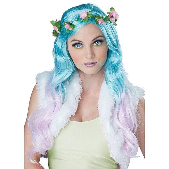 Floral Fantasy Blue/Lavender Adult Wig Dress Up Costume Unisex