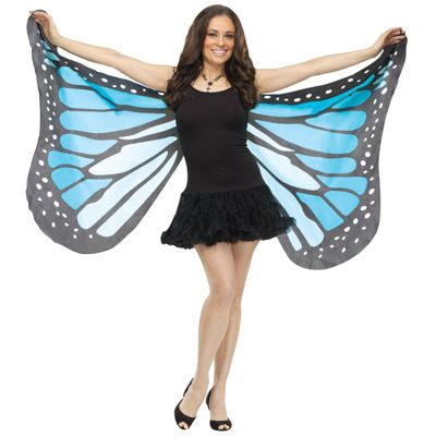 Soft Butterfly Adult Unisex Wings - Blue