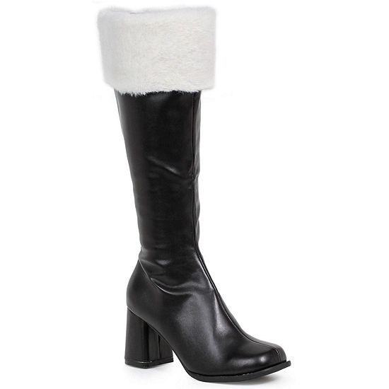 Black Gogo Boots W/ Fur Adult