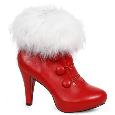 Buyseasons Women'S Red Ankle Boot 1 Pair Dress Up Costume Womens
