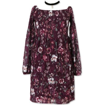 Speechless Long Sleeve Peasant Dress - Big Kid Girls