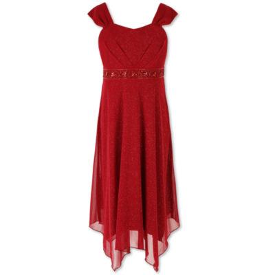 Speechless Beaded Sleeveless Peasant Dress - Big Kid Girls