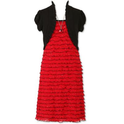 Speechless Sleeveless Peasant Dress - Big Kid Girls