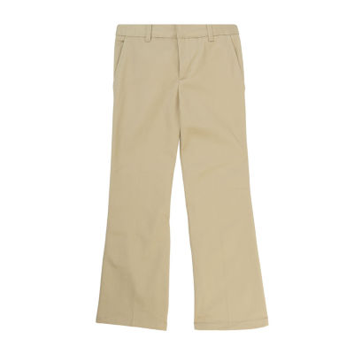 French Toast Flat Front Pants-Big Kid Girls Slim