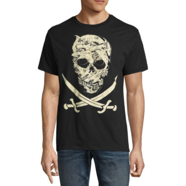 Short Sleeve Pirates of the Carribean Tv + Movies Graphic T-Shirt