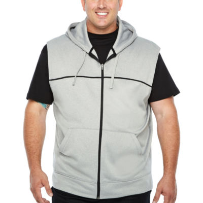 The Foundry Big & Tall Supply Co. Sleeveless Melange Hoodie-Big and Tall