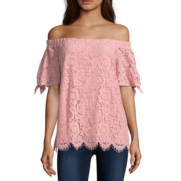 Miss Chievous Lace Blouse-Juniors