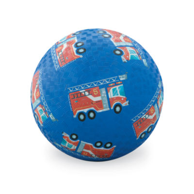 Crocodile Creek Fire Engines Blue Playground Ball7 inches