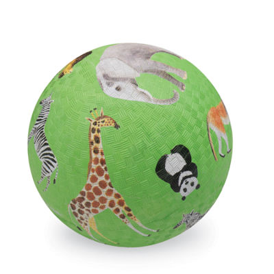 Crocodile Creek Wild Animals Green Playground Ball7 inches