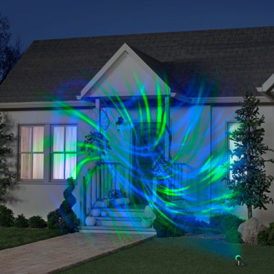 Blue and Green Comet Spiral Projection Light