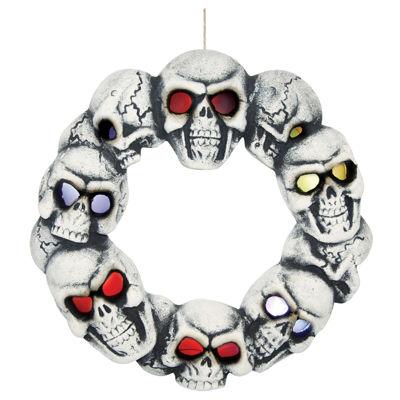 Skull Wreath w/light