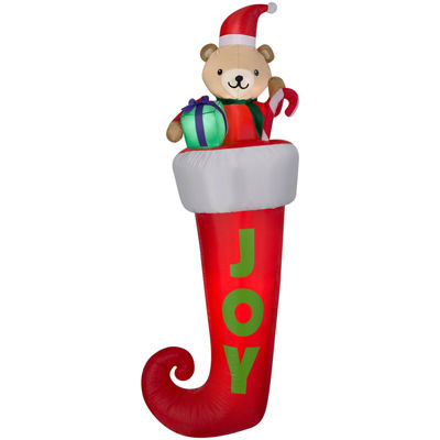 Airblown Hanging Teddy Bear in Stocking