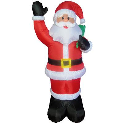 5' Inflatable Santa with Bag