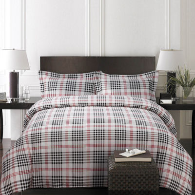 Tribeca Living Plaid Luxury 3-pc. Duvet Cover Set