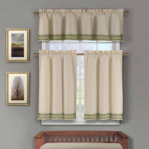 Duck River Zoey 3-pc. Kitchen Curtain Set