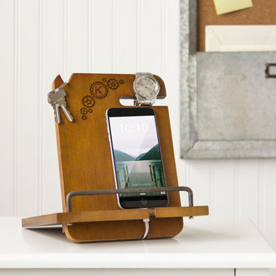 Cathy's Concepts Personalized Steampunk Wooden Docking Station