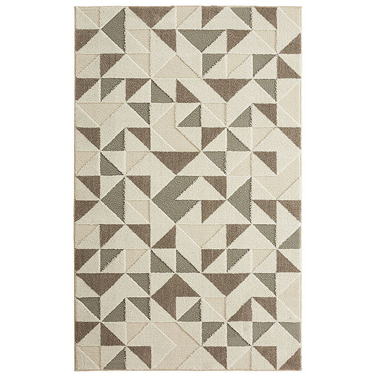 Mohawk Home Loft Modern Triangles Rectangular Indoor Rugs