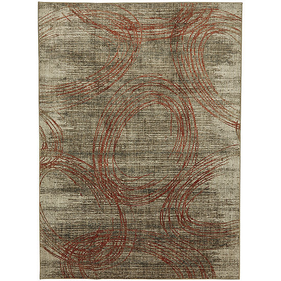 Mohawk Home Metropolitan Amora Ginger Rectangular Indoor Rugs