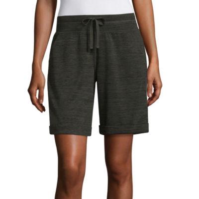 "St. John's Bay Active 9"" Knit Bermuda Shorts"