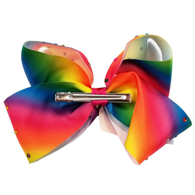 JoJo Siwa Large Signature Hair Bow Rainbow