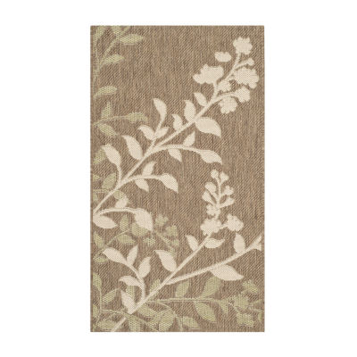 Safavieh Courtyard Collection Adeline Oriental Indoor/Outdoor Area Rug